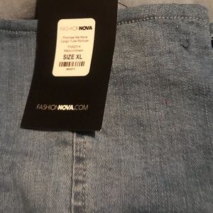 Short jean jumper